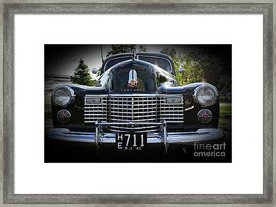 1941 Cadillac Front End Framed Print by Paul Ward