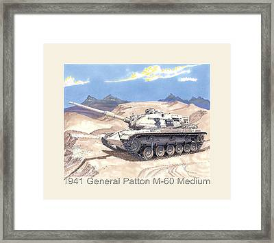 1941 General Patton M 60 Medium Tank Framed Print