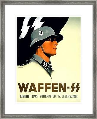1941 - German Waffen Ss Recruitment Poster - Nazi - Color Framed Print