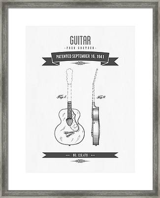 1941 Guitar Patent Drawing Framed Print