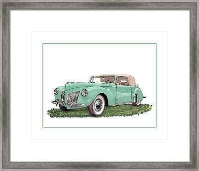 1941 Lincoln V-12 Continental Framed Print by Jack Pumphrey