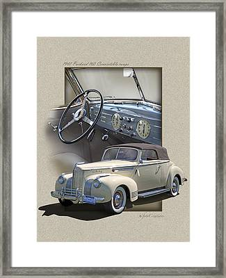 1941 Packard 160 Convertible-high Style Framed Print by Roger Beltz
