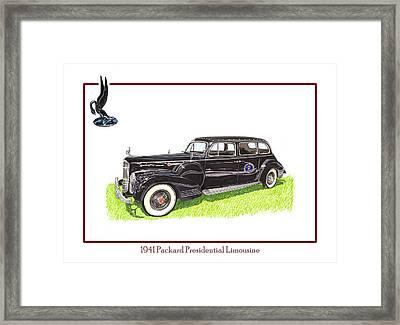 1941 Packard 180 Presidential Limousine Framed Print by Jack Pumphrey