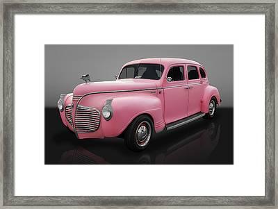 1941 Plymouth 4 Door Sedan Framed Print by Frank J Benz