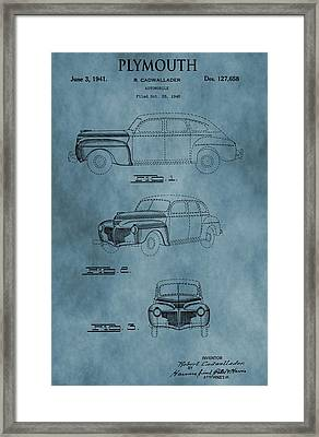 1941 Plymouth Patent Blue Framed Print