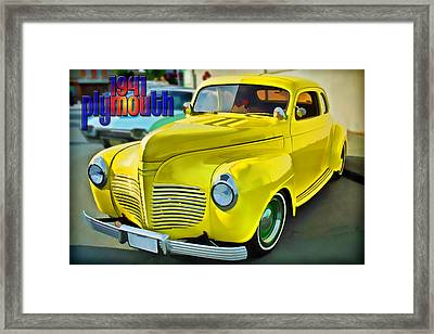 1941 Plymouth Framed Print