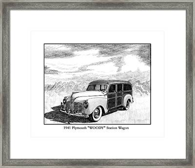 1941 Plymouth Woody Framed Print by Jack Pumphrey