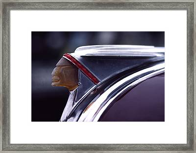 1941 Pontiac Hood Ornament Framed Print by Carol Leigh