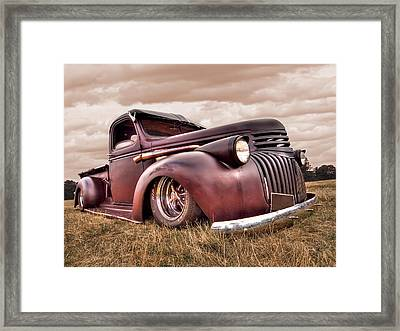 1941 Rusty Chevrolet Framed Print by Gill Billington