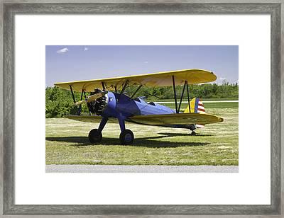 1941 Stearman A75n1 Biplane Airplane  Framed Print