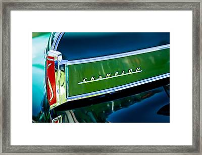 1941 Sudebaker Champion Coupe Emblem Framed Print