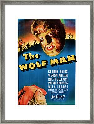 1941 The Wolf Man Vintage Movie Art Framed Print