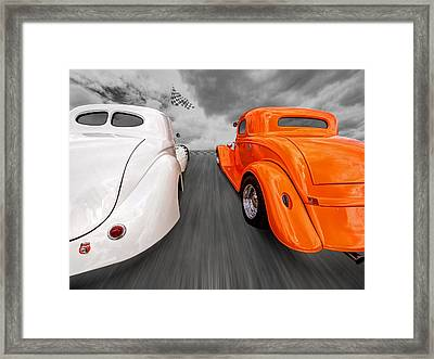1941 Willys Vs 1934 Ford Coupe Framed Print by Gill Billington