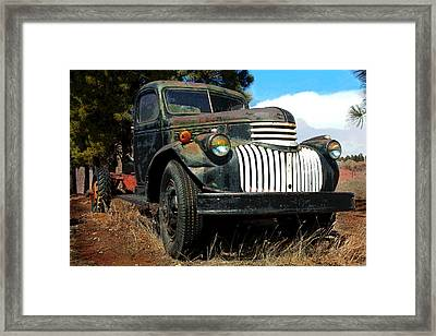 1942 Chevy Truck Framed Print by Mike Flynn