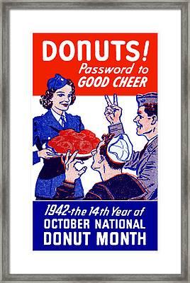 1942 Donut Month Poster Framed Print
