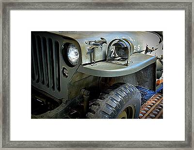 1942 Ford U.s. Army Jeep Ll Framed Print by Michelle Calkins