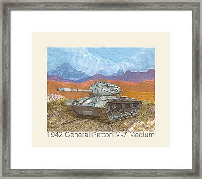 1942 General Patton M 47 Medium Tank Framed Print