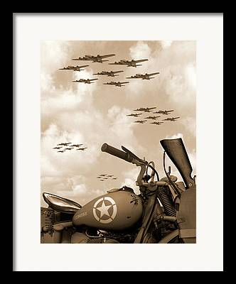 Fighter Digital Art Framed Prints