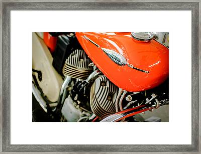 1942 Indian Sport Scout 45 Ci Motorcycle Framed Print