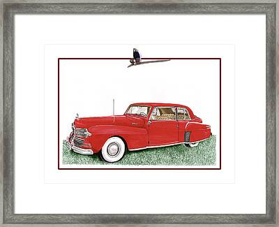 1942 Lincoln Continental Coupe Framed Print by Jack Pumphrey