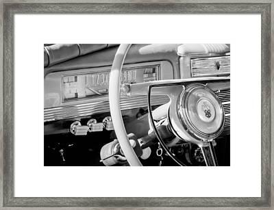 1942 Packard Darrin Convertible Victoria Steering Wheel Emblem Framed Print by Jill Reger