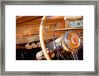 1942 Packard Darrin Convertible Victoria Steering Wheel Framed Print by Jill Reger
