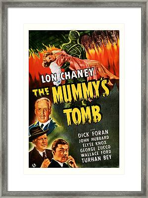 1942 The Mummys Tomb Vintage Movie Art Framed Print by Presented By American Classic Art