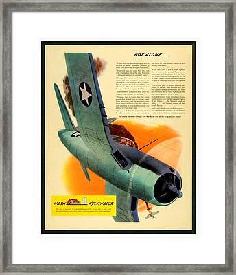 1943 - Nash Kelvinator Advertisement - Corsair - United States Navy - Color Framed Print