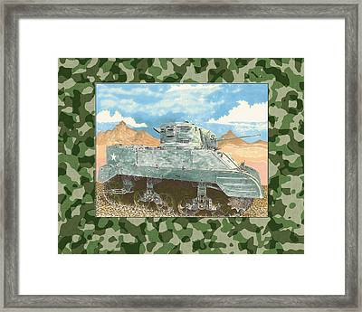 1943 Sturat M 5 Light Combat Tank Framed Print
