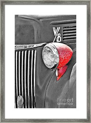 1944 Ford Pickup - Headlight - Sc Framed Print