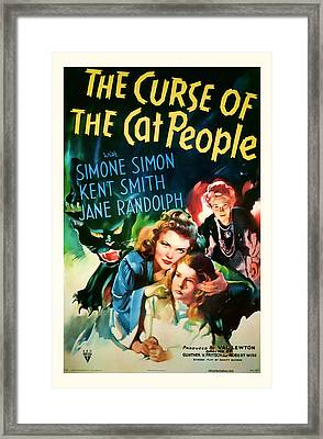 1944 The Curse Of The Cat People Vitage Movie Art Framed Print