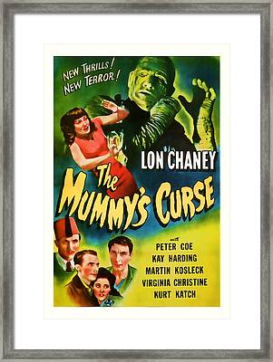 1944 The Mummys Curse Vintage Movie Art Framed Print by Presented By American Classic Art