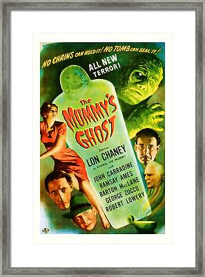 1944 The Mummys Ghost Vintage Movie Art Framed Print