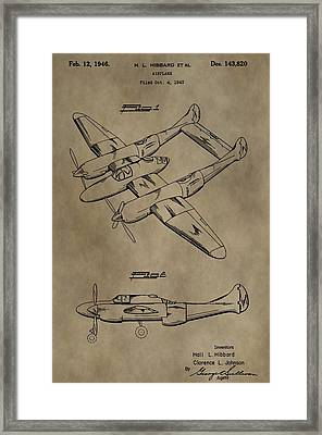 1946 Airplane Patent Framed Print by Dan Sproul
