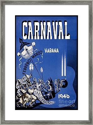 1946 Carnaval Vintage Travel Poster Framed Print by Jon Neidert