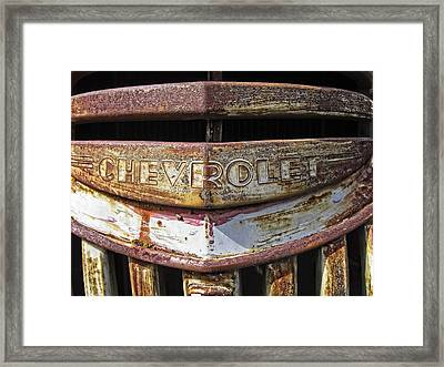 1946 Chevrolet Truck Grill And Emblem Framed Print by Daniel Hagerman