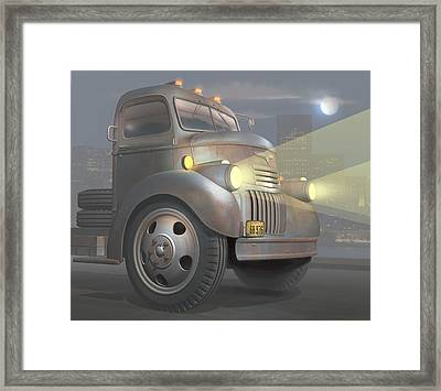 1946 Chevy Coe Framed Print by Stuart Swartz