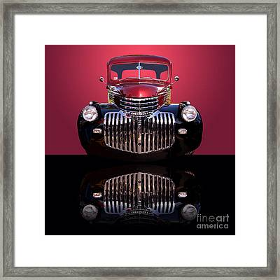 1946 Chevy Panel Truck Framed Print by Jim Carrell