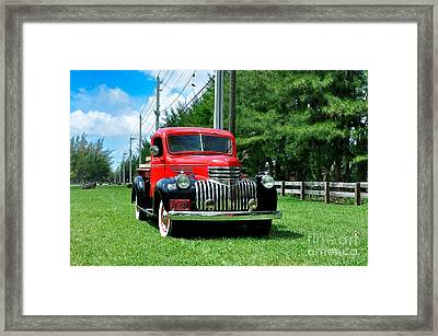 1946 Chevy Short Bed Framed Print by Andres LaBrada