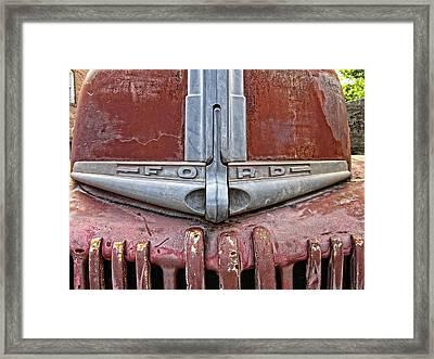 1946 Ford Truck Grill And Face Plate Framed Print by Daniel Hagerman