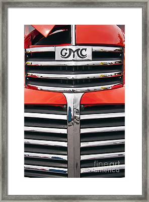 1946 Gmc Truck Grill Framed Print by Glenn Gordon
