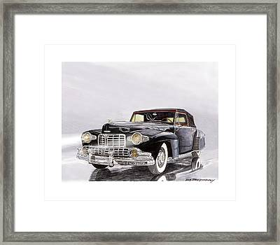1946 Lincoln Continental Convertible Foggy Reflection Framed Print by Jack Pumphrey