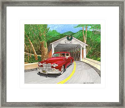 1946 Lincoln Continental Framed Print by Jack Pumphrey