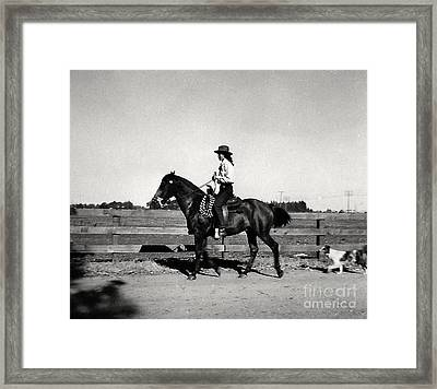 1946 Phyllis And Spunky And Spot Framed Print by Phyllis Kaltenbach