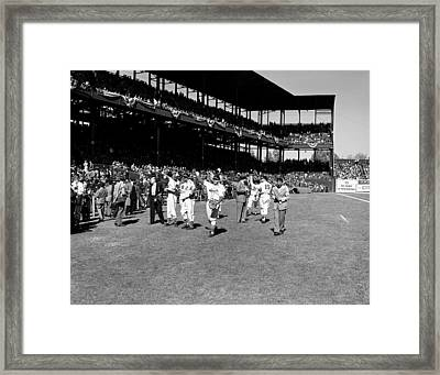 1946 World Series - Sportsman's Park St Louis Framed Print by Mountain Dreams