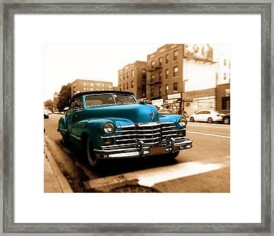 1947 Cadillac Convertible Framed Print by Jon Woodhams