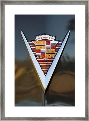 1947 Cadillac Emblem Framed Print