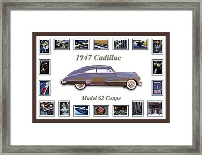 1947 Cadillac Model 62 Coupe Art Framed Print