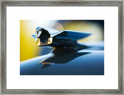 1947 Cadillac Model 62 Coupe Hood Ornament Framed Print by Jill Reger