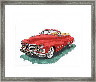 Cadillac Series 62 Convertible Framed Print